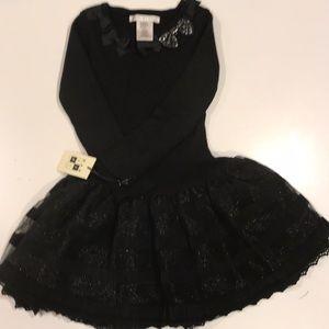 Kids black sweater dress
